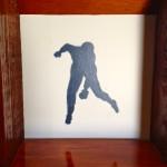 Baseball Player Stencil by Francesca Cole