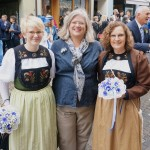 Chatting with local women about their traditional costumes - Lenzburg, Switzerland