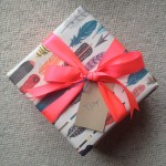 "Love this ""fly away"" feather wrap from Paper Source"
