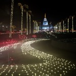 Christmas Lights at LDS Temple, Oakland, CA